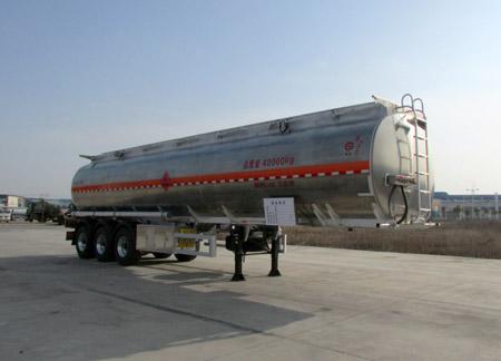 楚胜牌CSC9403GYYLD型铝合金运油半挂车