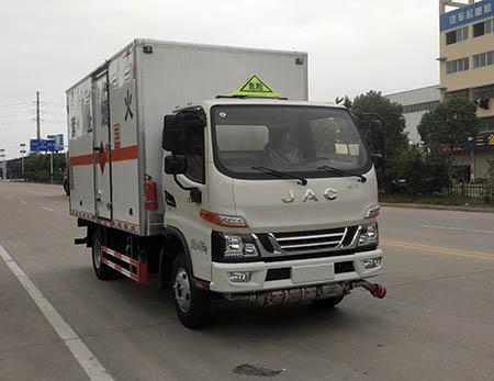 专威牌HTW5041XRQJH6型易燃气体厢式运输车